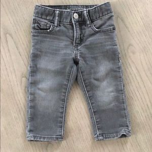 Gap gray jeans, 12-18 mos